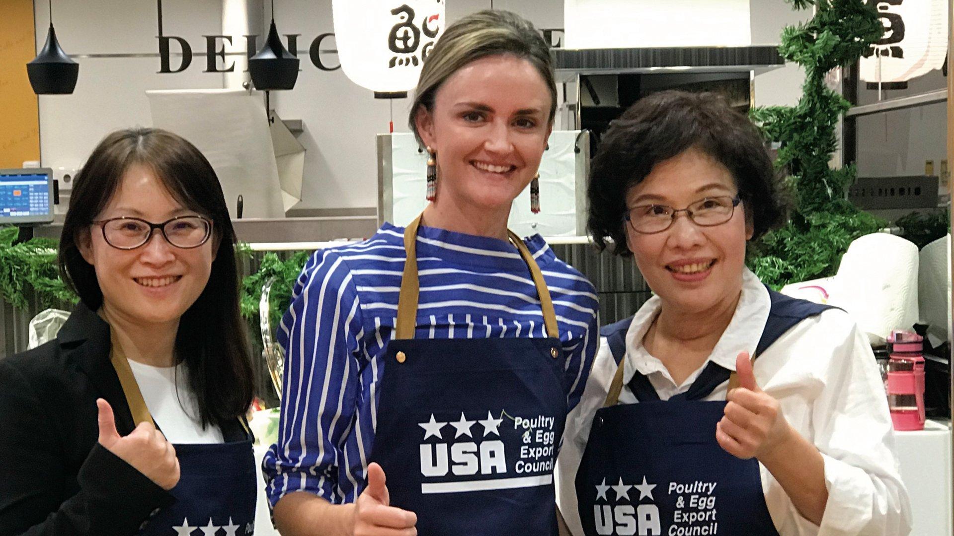 美國家禽蛋品出口協會、美國在台協會農業貿易辦事處與林美慧老師
