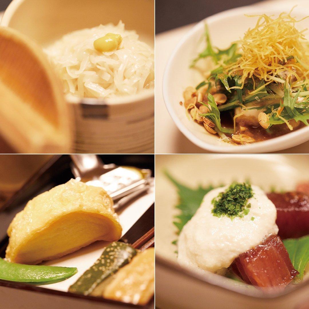 梅の花豆腐料理